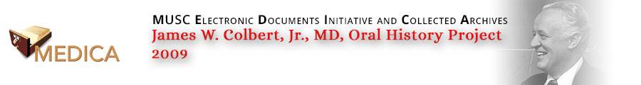 James W. Colbert, Jr., MD, Oral History Project, 2009 header