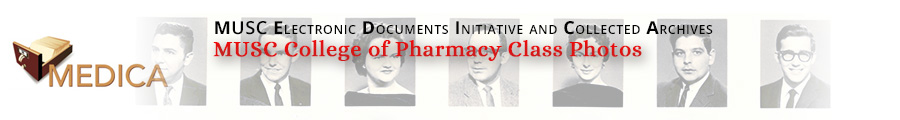 MUSC College of Pharmacy Class Photos Collection header