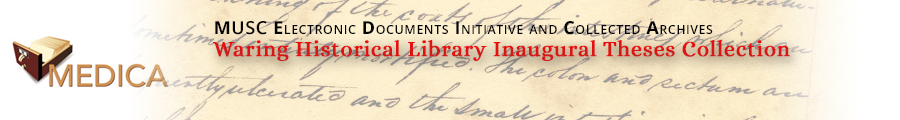 Waring Historical Library Inaugural Theses Collection