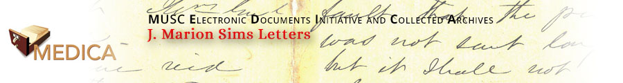 J. Marion Sims Letters