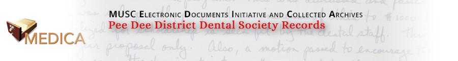 Pee Dee District Dental Society Records