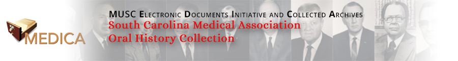 South Carolina Medical Association Oral History Collection