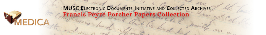 Francis Peyre Porcher Papers Collection