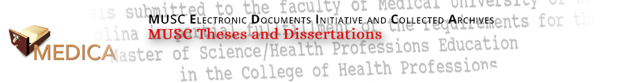 MUSC Theses and Dissertations