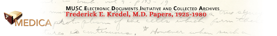 Frederick E. Kredel, M.D. Papers, 1925-1980