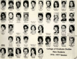 College of Graduate Studies, new students, 1976-1977 session