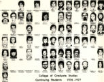 College of Graduate Studies, continuing students, 1976-1977