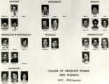 College of Graduate Studies, new students, 1977-1978 session