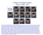 College of Graduate Studies, class of 2009-2010