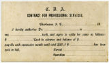 Charleston Dental Association, pre-printed service agreement card