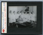 Pathology staff, December 1954,...