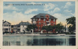 Colonial Lake showing Baker Sanitorium, Charleston, S.C.