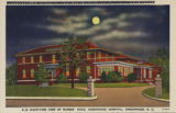 Night-time view of nurses' home, Greenwood Hospital, Greenwood, S.C.